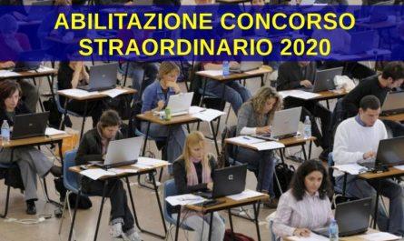 abilitazione concorso straordinario 2020